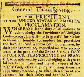 Image result for washington thanksgiving proclamation
