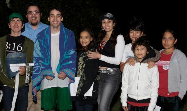 Joel Joa and family at his baptism