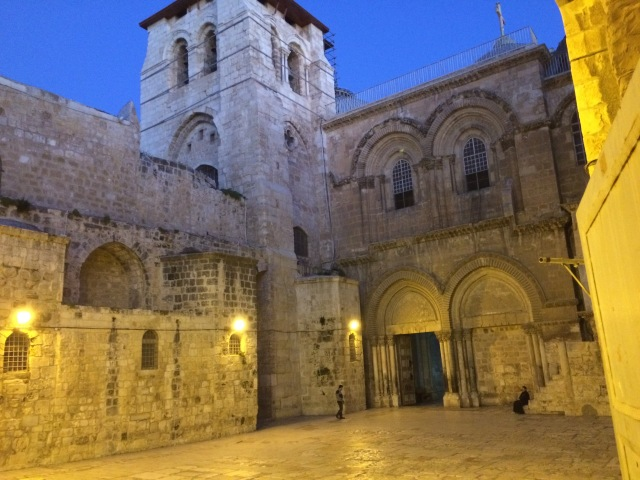 Church of the Holy Sepulcher at sunrise.